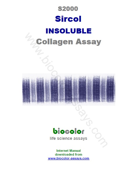 Biocolor- Sircol Insoluble Collagen Assay Manual